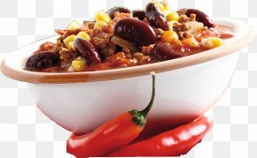 Chilly - Chili Con Carne Vegetarian Cuisine Dish Food Main Course PNG