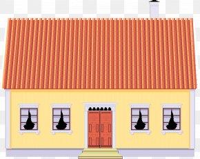 Cartoon Building - Facade Roof Building PNG