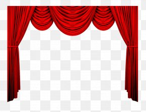 Red Curtains - Theater Drapes And Stage Curtains Red Theatre Pattern PNG