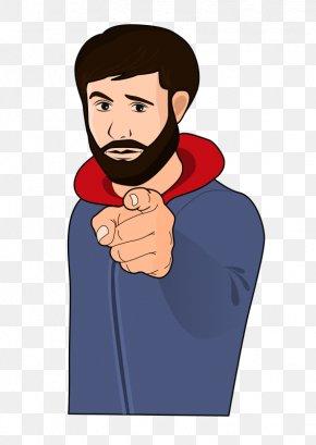 Little Cartoon Man - Index Finger Clip Art PNG