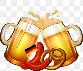 Cartoon Beer Mug Cheers - Beer Festival Oktoberfest PNG