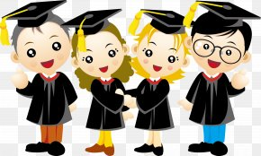 People Graduation Season - Graduation Ceremony Cartoon PNG