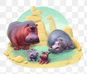 Hippo - Township The Zoo Book Hippopotamus Baby Animals Playrix PNG