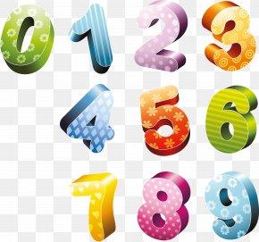 1 - 3D Computer Graphics Number Clip Art PNG
