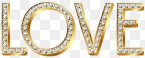 Gold Diamond Love Transparent Clip Art Image - Gold Diamond Clip Art PNG