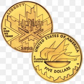 2010 Winter Olympics Opening Ceremony - 2002 Winter Olympics Gold Commemorative Coin Ounce PNG
