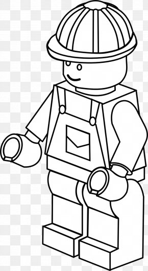 Firefighter - Colouring Pages Coloring Book Lego Minifigure Firefighter PNG