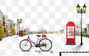 Telephone Booths And Bike - Telephone Booth Google Images Fukei Street Light Download PNG