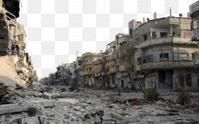 Messy War Ruins - Aleppo Homs Syrian Civil War Benghazi Operation Dignity Battle PNG