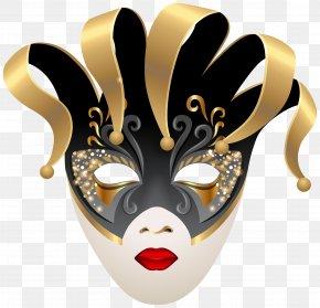 Venetian Carnival Mask Clip Art Image - Mask Carnival Clip Art PNG