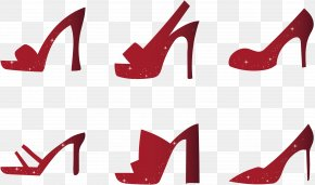 Vector Illustration Ruby Shoes - Euclidean Vector Shoe High-heeled Footwear Illustration PNG