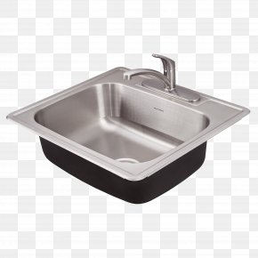 Sink - Sink Stainless Steel American Standard Brands Kitchen Drain PNG