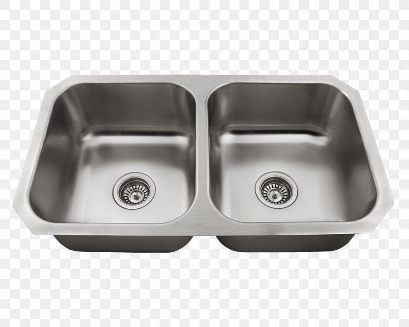Sink Stainless Steel Brushed Metal Bowl, PNG, 1000x800px, Sink, Bathroom, Bathroom Sink, Bowl, Brushed Metal Download Free