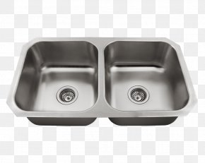 Sink - Sink Stainless Steel Brushed Metal Bowl PNG