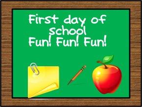 Fun School Cliparts - First Day Of School Kindergarten Clip Art PNG