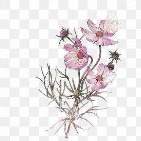 Pale Pink Fresh Bouquet Decorative Pattern - Floral Design Nosegay Flower Bouquet Icon PNG