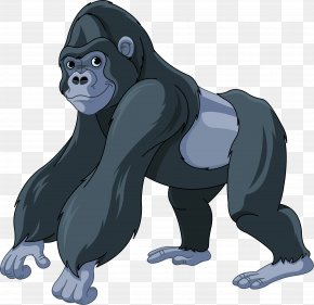 Gorilla - Gorilla Ape Cartoon Clip Art PNG