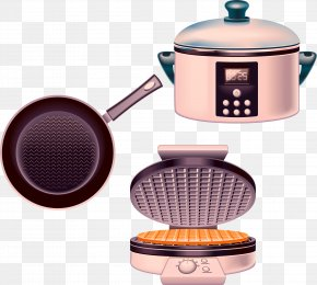 Kitchen Utensils Vector Wok Cookers Electric Baking Pan - Home Appliance Kitchen Clip Art PNG