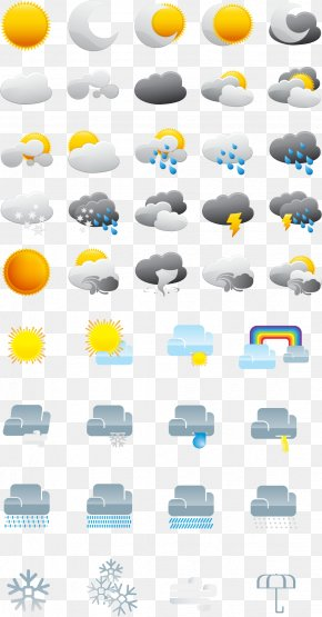 Weather Icon Vector - Weather Forecasting Clip Art PNG