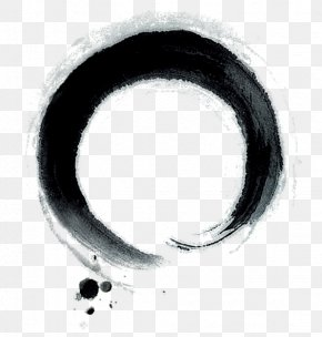 Chinese Style Ink Circle - Ink Page Computer File PNG