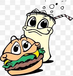 Cartoon Hand Painted Burger - Hamburger Cheeseburger Fast Food Veggie Burger Twin Lakes PNG