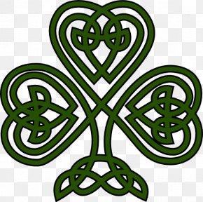 Celtic Shamrock Cliparts - Shamrock Irish Cuisine Celts Celtic Knot Clip Art PNG