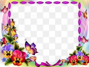 Red Flower Frame Transparent Background - Picture Frame Image File Formats PNG