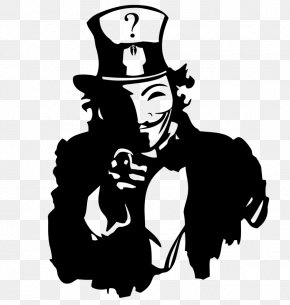 We Want You - Uncle Sam Anonymous Stencil Clip Art PNG