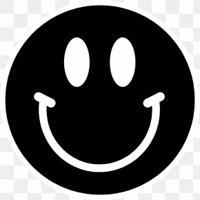 Smiley Face Black And White - Smiley Black And White Emoticon Clip Art PNG