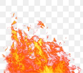Orange Fresh Flame Effect Element - Fire Flame PNG