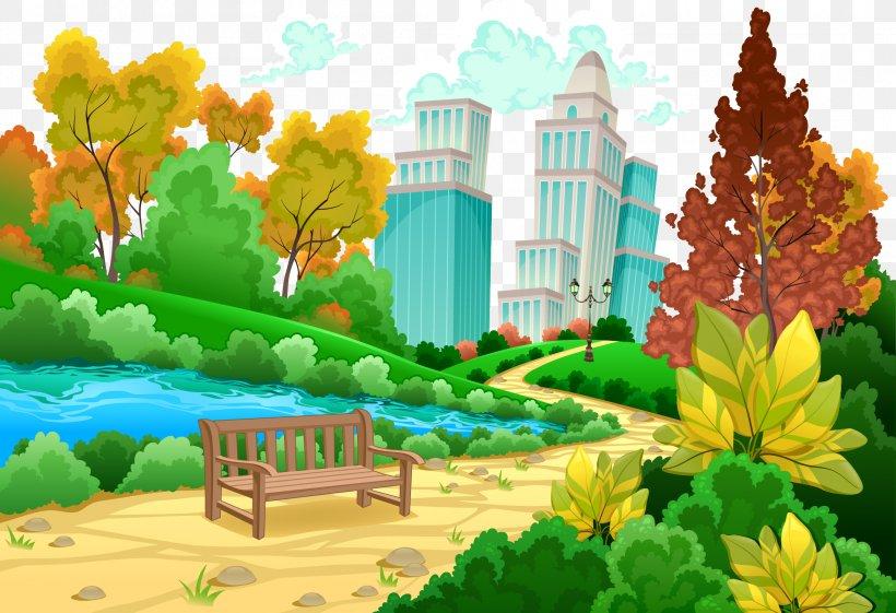 Urban Park Cartoon Png 2192x1500px Urban Park Biome Cartoon Cityscape Drawing Download Free