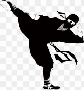 Samurai - Black And White Human Behavior Silhouette Joint PNG