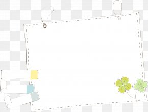 Clover Border - Picture Frame Text Pattern PNG