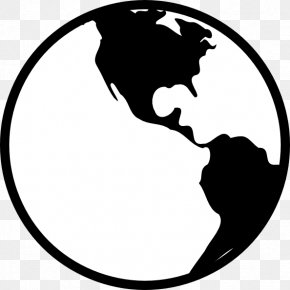 Black And White Earth - Internet .net Email Clip Art PNG