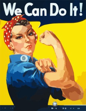 Do Cliparts - Naomi Parker United States We Can Do It! Second World War Rosie The Riveter PNG