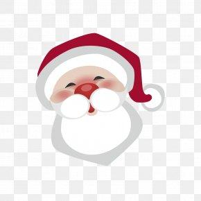 Cartoon Santa Head Vector - Santa Claus Christmas PNG