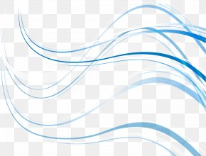 Vector Wave Line - Blue Euclidean Vector PNG