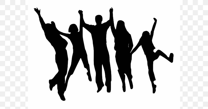 Party Silhouette Dance Clip Art Png 600x429px Party Art Black And White Block Party Dance Download