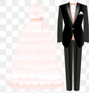 Men And Women Dress Suits - Tuxedo Suit Formal Wear Wedding Dress PNG
