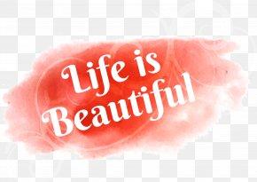 Beautiful Life Pink Graffiti - Watercolor Painting Adobe Illustrator PNG