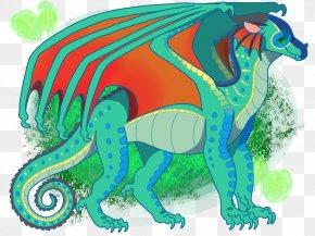 Wings Of Fire Fanart Tsunami - Clip Art Dragon Illustration Wings Of Fire PNG