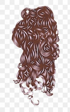 Lace Wig Artificial Hair Integrations - Hair Hairstyle Brown Long Hair Wig PNG