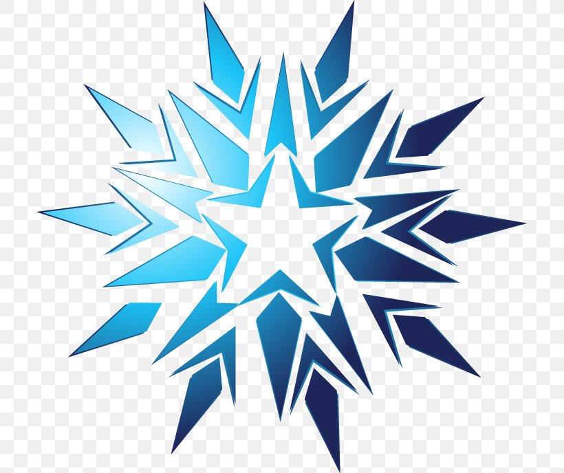 Snowflake Icon, PNG, 713x688px, Snowflake, Blue, Electric Blue, Leaf, Logo Download Free