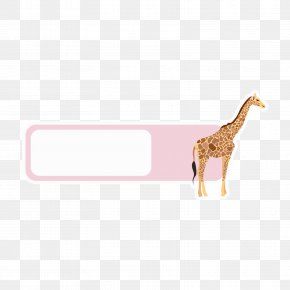 Pink Giraffe Animal Language Box - Giraffe Animal Clip Art PNG