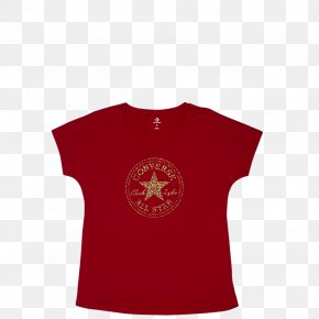 Printed T-shirt - T-shirt Converse Sleeve Symbol Neck PNG