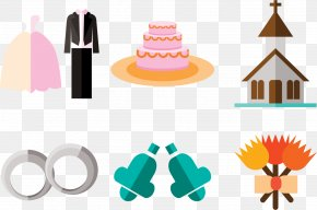 Planning To Get Married Element - Wedding Cake Flat Design PNG
