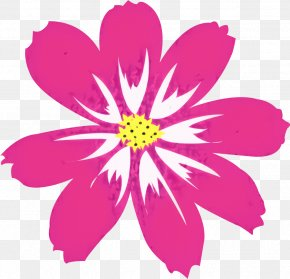 Pedicel Daisy Family - Pink Flower Cartoon PNG