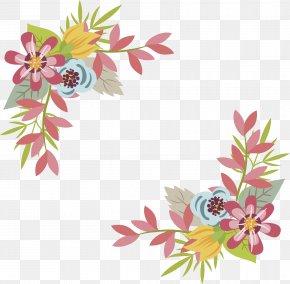 Pink Flower Title Box - Floral Design Pink Flower PNG