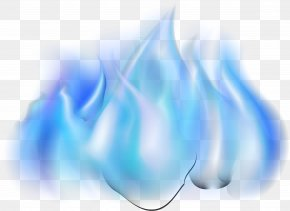 Blue Simple Flame Effect Element - Blue Flame Gratis PNG