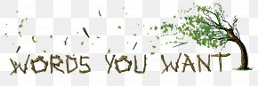Want You - Calligraphy Logo Plant Stem Grasses Font PNG